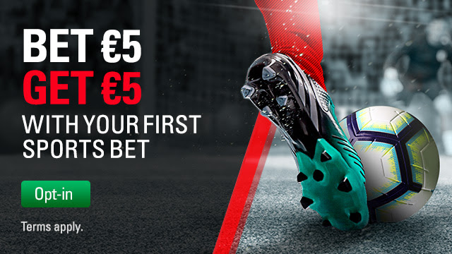 Betstars: claim a €5 Free Bet when you wager €5 on this weekend's action